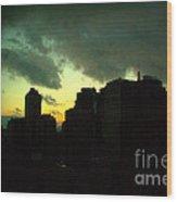 Stormy Sunset - New York City Skyline Wood Print
