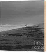 Stormy Surf Spot Wood Print