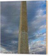 Stormy Washington Monument Wood Print