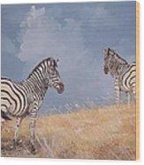 Stormy Zebra Wood Print