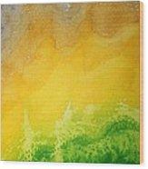 Stormy Mesa Original Painting Wood Print