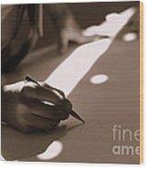 Story Of Light And Shadows Wood Print by Vishakha Bhagat