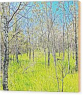Storybook Aspens Wood Print