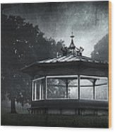 Storytelling Gazebo Wood Print by Svetlana Sewell