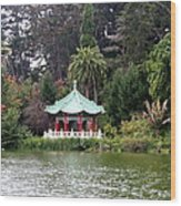Stow Lake Chinese Pavilion Wood Print