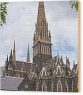 St.patrick's Cathedral Wood Print