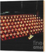 St.patricks Cathedral Candles Wood Print