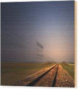 Straight As A Rail 02 Wood Print