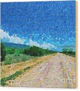 Straight Road In Ethiopia Painting Wood Print