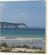 Straits Of Mackinac Wood Print