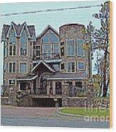 Straits Of Mackinaw Wood Print by MJ Olsen