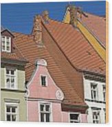 Stralsund Roofs. Wood Print by David Davies