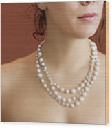 Strand Of Pearls Wood Print by Margie Hurwich