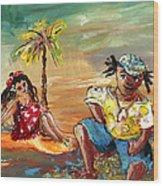 Stranded In Tahiti Wood Print