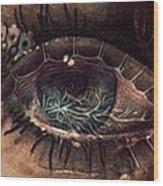 Strange Eye Wood Print