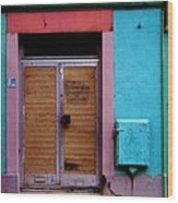 Strasbourg Door Wood Print