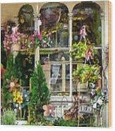 Strasburg Flower Shop Wood Print