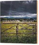 Strathspey Railway Wood Print