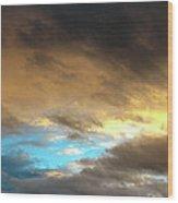 Stratus Clouds At Sunset Bring Serenity Wood Print