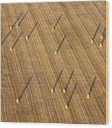Straw Bales, Chenevelles Wood Print
