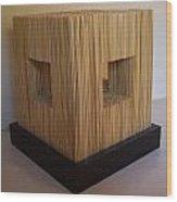 Straw Cube Wood Print by Daniel P Cronin