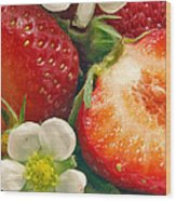 Strawberries And Vanilla Wood Print
