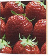 Strawberries (fragaria 'elsanta') Wood Print