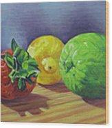 Strawberry Citrus Wood Print