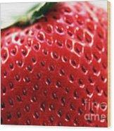 Strawberry Detail Wood Print