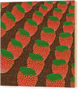 Strawberry Fields Forever Wood Print by Andee Design