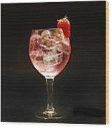 Strawberry Gintonic Wood Print