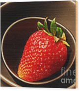 Strawberry In Nested Bowls Wood Print