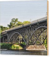 Strawberry Mansion Bridge And The Schuylkill River Wood Print