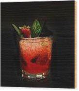 Strawberry Mojito Wood Print