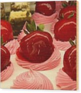 Strawberry Mousse Wood Print