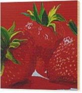 Strawberry Red Wood Print