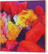 Strawberry Shortcake Wood Print