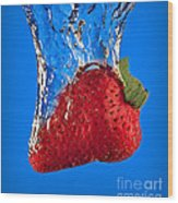 Strawberry Slam Dunk Wood Print by Susan Candelario