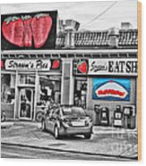 Strawn's Eat Shop Wood Print