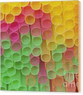 Straws Wood Print