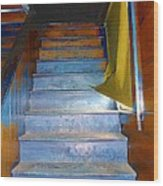 Stray Breeze On The Stairs Wood Print
