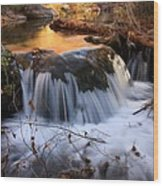 Stream Cascade Wood Print