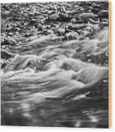 Stream Fall Colors Great Smoky Mountains Painted Bw  Wood Print