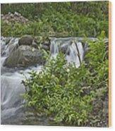 Stream Falls Wood Print