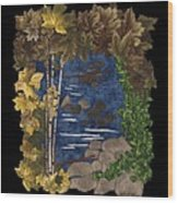 Stream Of Tranquility Wood Print by Anita Jacques
