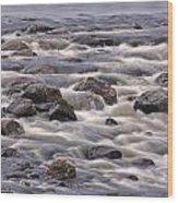 Streaming Rocks Wood Print