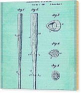 Streamlined Baseball Bat Or The Like Blue Us 2169774 A Wood Print