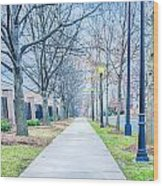 Street Alley Wood Print