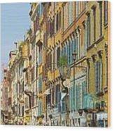 Street And Obelisk Wood Print