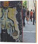 Street Art And Street Scene London Wood Print